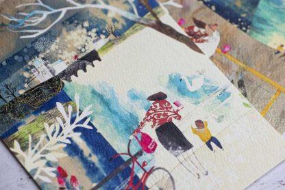 Custom designed Gourmet Tart illustration from Lara Luxardi Studio for Mother's Day