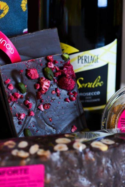 Gourmet Tart Dark Chocolate, Pistachio and Raspberry Brittle